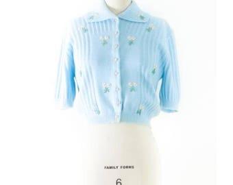 1950's Laurel Ann for Ben Wilson Knit Cardigan l M