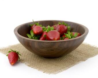 Walnut Bowl, Deep Walnut Fruit Bowl, Serving Dish, Wooden Candy bowl