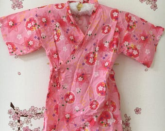 Baby Toddler Kimono, Pink Sakura Star Design, Baby Kimono, Child Kimono, Baby Gifts, Baby Jinbei, Photo Prop Idea, Ninja Outfit, Kawaii
