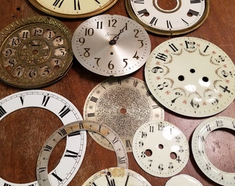 Vintage Clock Face lot #2
