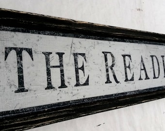 The Reading Room Sign - HandCrafted Style Wooden Decor