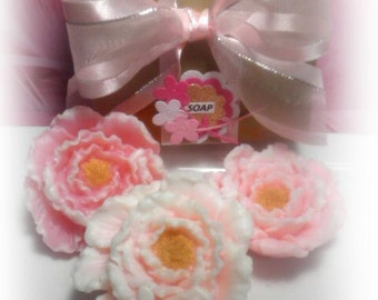 Peonia Soap Set of 3 pieces