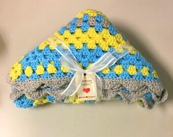 Crochet Blanket, Granny Square Baby Blanket