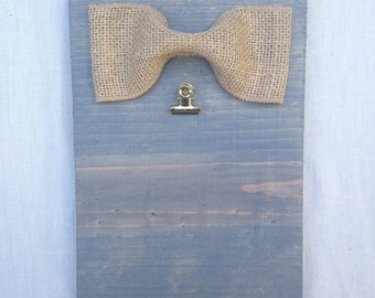 Grey Stained 4x6 picture frame or note holder
