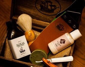Shaving Kit, Shaving Kits, Men's Shaving Kit, Valentine's Day, Shaving Bar, Straight Razor, Gifts for Him, Vintage Style Shaving