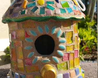 Cone style Mosaic birdhouse