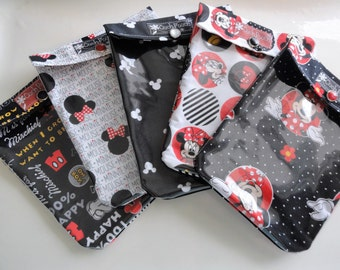 Disney Ouch Pouch 5 Pack Small Clear First Aid Diaper Bag Purse Organizers Fish Extender Gifts Under 6 (4x5)