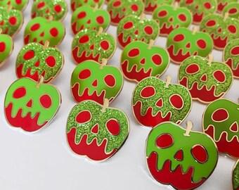 Classic Poison Apple Enamel Pin - Regular OR Glitter