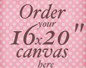 Canvas 16x20in - baby nursery wall art room kids wall art nursery decor nursery art Girl and Boy nursery art