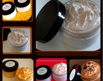 Foaming Bath Butter Whipped Soap - FREE U.S. SHIPPING - Soap in a Jar - Choose Any 4 - Mix and Match - 4 oz each
