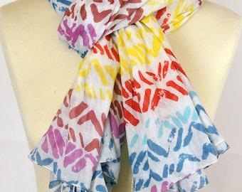 Colorful scarf/shawl scarf
