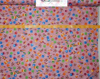 Quilting Treasures. Candyland Candy Toss Pink - Game Original Artwork - By the yard - Choose your cut of fabric