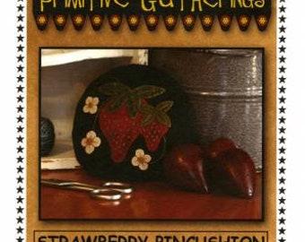"Primitive Gatherings Strawberry Pincushion Pattern - 5"" round"" -"