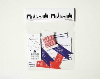 Paris label set