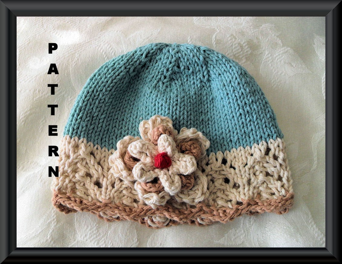 Baby Hat Pattern Knitted Hat Pattern Newborn Hat Pattern Infant Hat ...