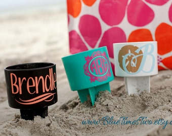 Personalized Beach Cup Holder - Beach Spiker - Sand Spike - Drink Holder