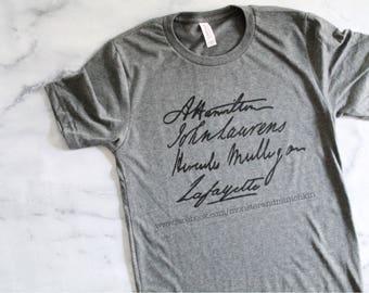 Hamilton shirt, Hamilton, Alexander Hamilton, John Laurens, Hercules Mulligan, Lafayette, history, american revolution, HamilSquad, Laurens