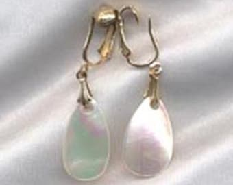 Sarah Coventry SOUTH SEAS Earrings - 1968 - Mother of Pearl  SALE 6.00