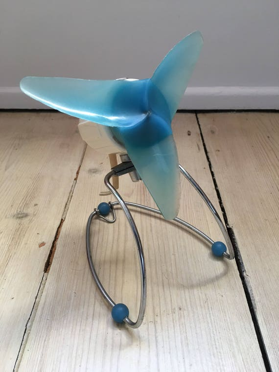 Vintage Bauhaus style Siemens Schuckert model TF161 miniature desk wall fan circa 1950's