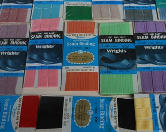 17  packages  Vintage Wrights  seam binding