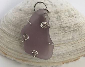 Genuine Sea Glass, Sea Glass, Beach glass, Sterling Silver Pendant