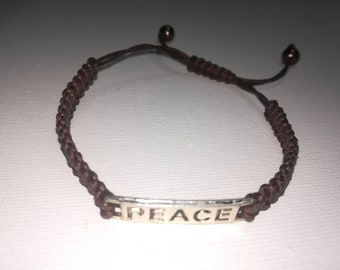 Gevlochten armband vrede