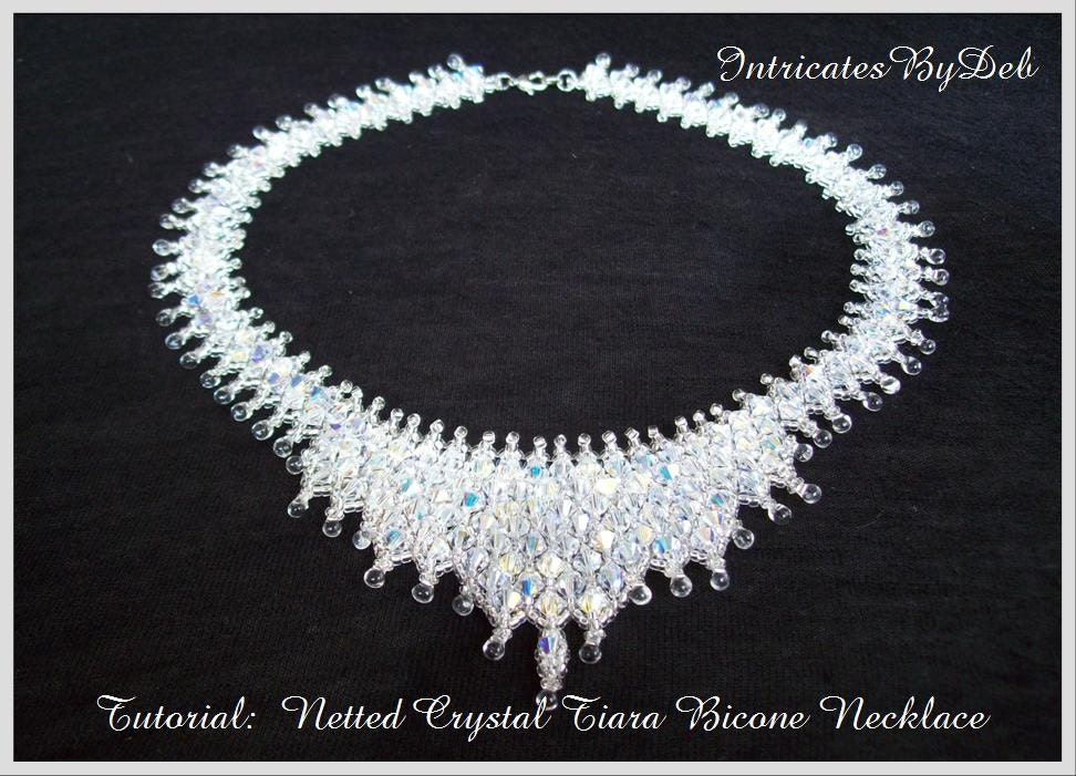 Bead pattern netted crystal bicone tiara necklace tutorial jewelry bead pattern netted crystal bicone tiara necklace tutorial jewelry beading beadweaving instructions pdf do it yourself how to solutioingenieria Image collections