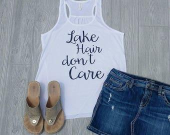 Lake Hair don't care - Womens Tank Top - White
