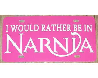 C. S. Lewis Chronicles of Narnia Pink Car Tag License Plate