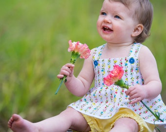 Summer Top and Shorts PDF Pattern (size 6-12 months)