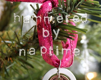Baby's First Christmas Ornament - Hand Stamped Ornament - Custom Christmas Ornament - 2018 Penny Ornament - Custom Name Ornament