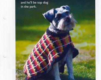 CROCHET PATTERN Dog Coat / Sweater / pdf / Uses Double Knitting Yarn, Instant Download