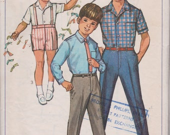 Vintage Sewing Pattern, THEATRE, Simplicity 6424, Boys Trousers, Boys Shirt, 1960s