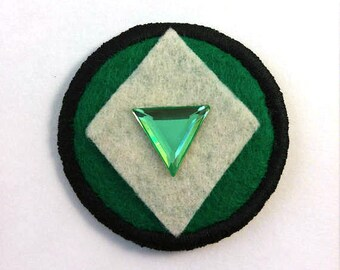 Steven Universe Crystal Gem Peridot Badge Pin Button Patch