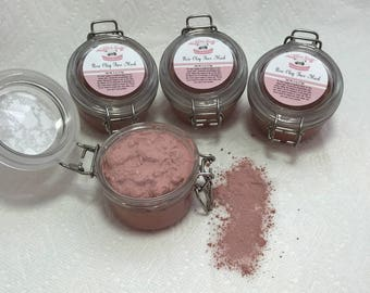 Face Mask made with Rose Clay and Rosehip Seed Oil