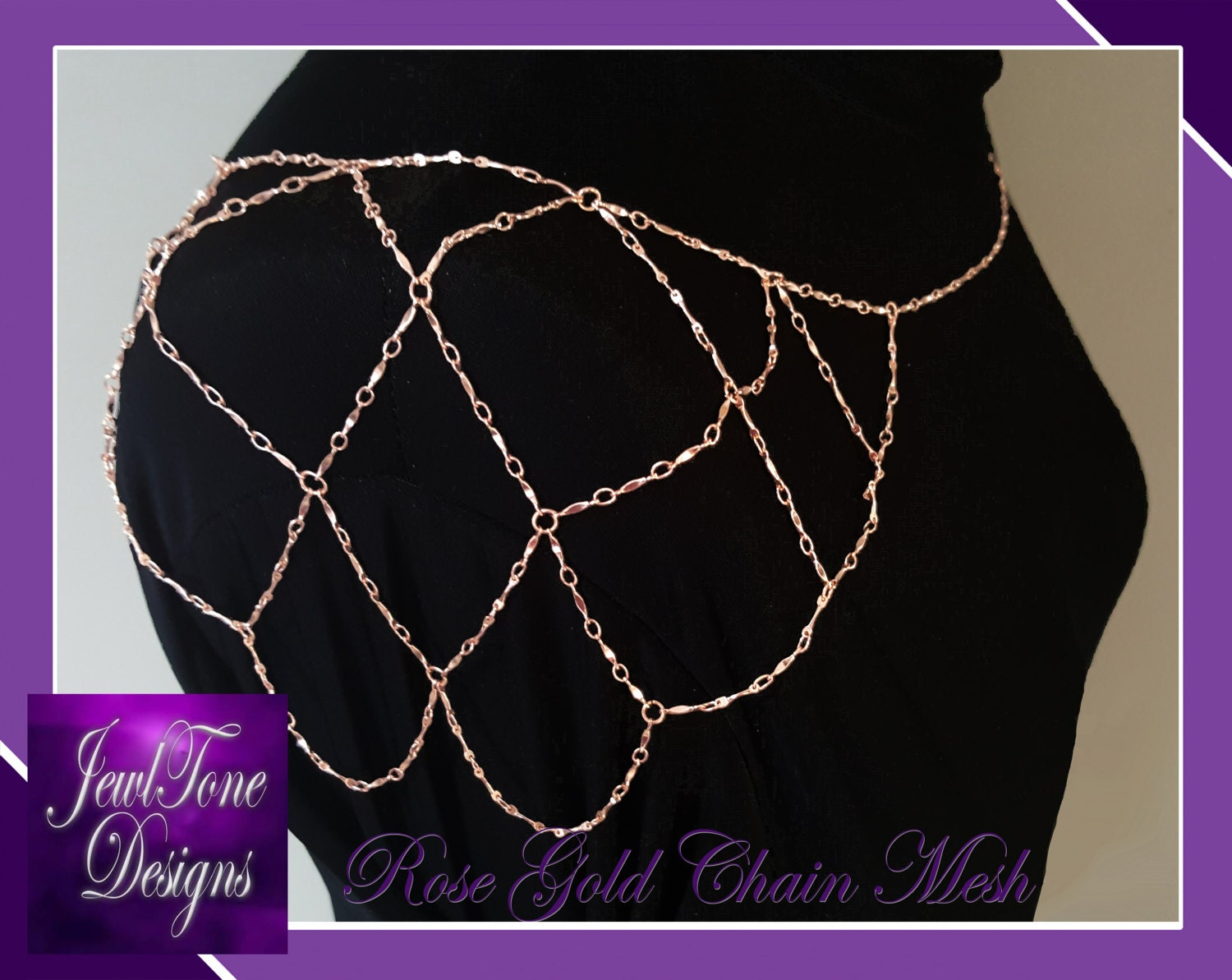 Rose Gold Shoulder Necklace Bridal Jewelry Shoulder Jewelry Chain
