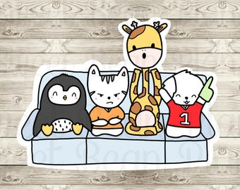 Bean and Friends Game Time Non-Adhesive Cardstock Die Cut (1)