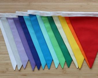 Rainbow bunting extended - rainbow garland - multicoloured bunting - handmade item