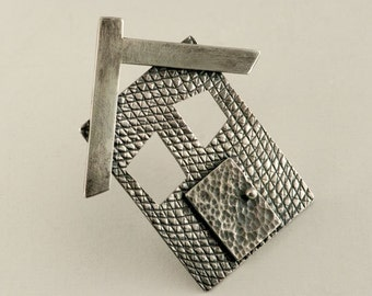 Haunted House Blackened Sterling Silver House, One of a Kind, Ready to Ship