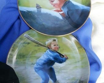 Collectors plates, Danbury Mint, Danbury Mint plates,baseball, Numbered Collectible Plates, Collectibles, Baseball, Butterflies,