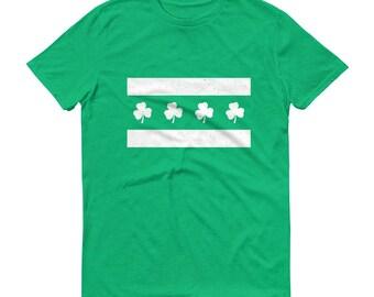 Chicago Irish Flag Short-Sleeve T-Shirt - St. Patrick's Day, Chi-rish