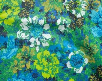 vintage retro floral 1960-1970's fabric
