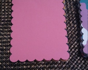 Scalloped Rectangle Die Cut Shapes, Die Cut for Card Making, Scrapbooking and Paper Crafts, Cricut Die Cut Rectangle