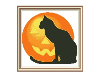 "Cross stitch pattern ""Cat"",Instant download PDF"