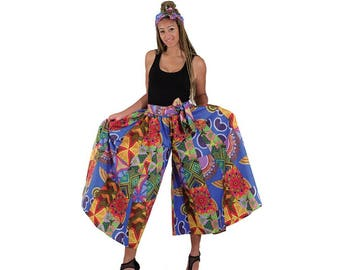 African Patchwork Palazzo Pants
