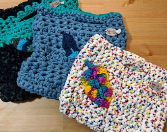 Knitted laptop/iPad carrier