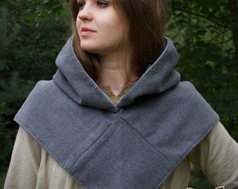 Viking hood made of wool with lining, on the baisi of historical pattern from Skjoldehamn