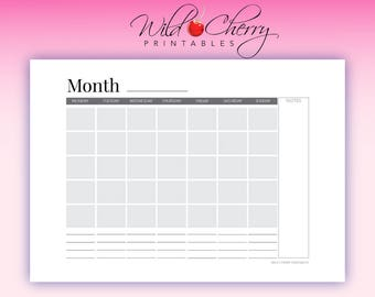 Monthly Agenda Printable, A4 Inserts Printable, A4 Printable A4 Inserts Printable, Letter A5 Agenda, A4 Agenda, Agenda Printable, Letter