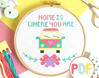 PDF Campervan Cross Stitch Pattern