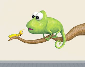 Wall decals chameleon A530 - Stickers caméléon A530